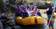 Family White Water Rafting in the Canadian Rockies